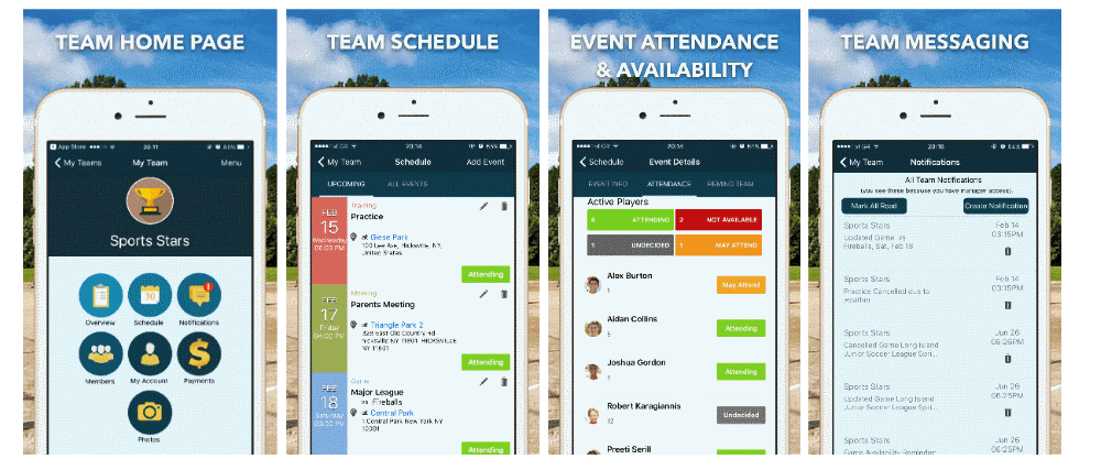 TeamTracky Mobile Apps